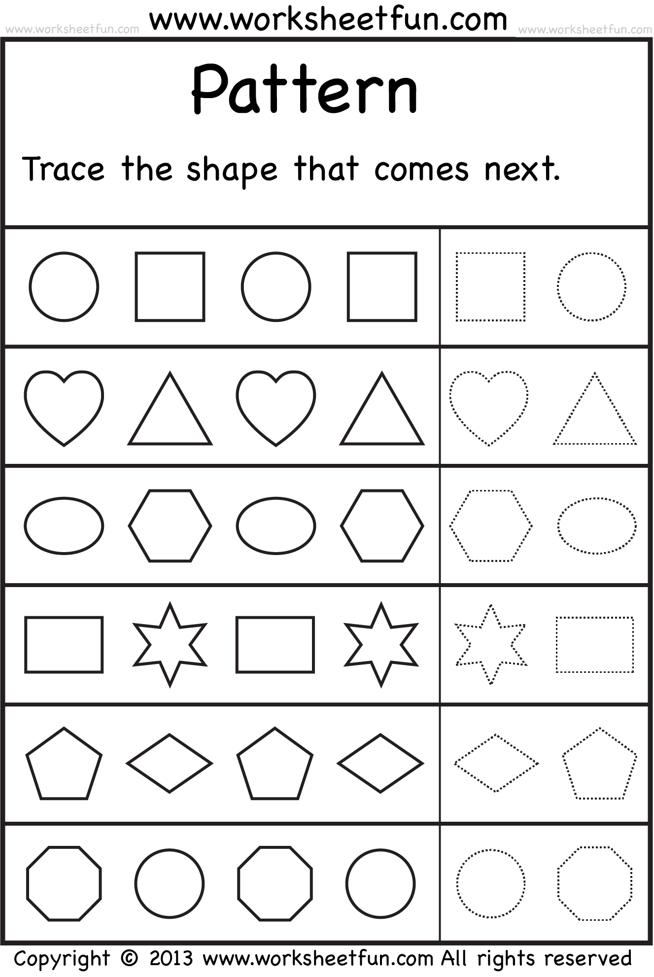 worksheet Preschool Pattern Worksheets thinking skills lu pinterest printable preschool worksheets 8 best images of patterns free shape pattern kindergarten patter
