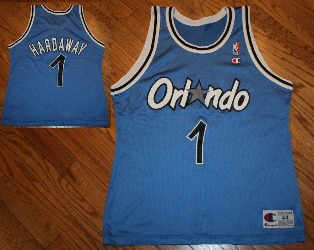 Orlando Magic Penny Hardaway  1 Champion NBA Basketball Jersey-Men s 44  vintage  Champion  OrlandoMagic fb6112177