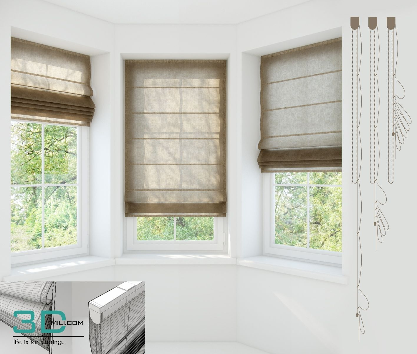 166 Curtain 166 3d Models For Download Curtains Classic