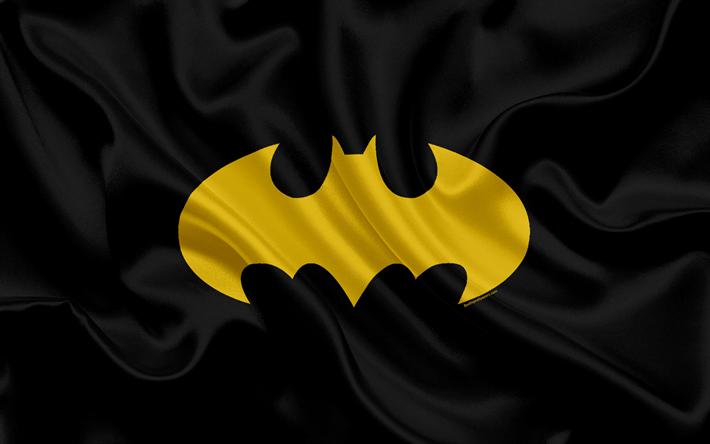 Download Wallpapers Batman 4k Black Silk Texture Batman Logo Emblem Arkham Besthqwallpapers Com Batman Wallpaper Batman Logo Batman