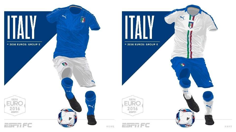 Camisa da Seleção da Itália Eurocopa 2016-2017 Puma