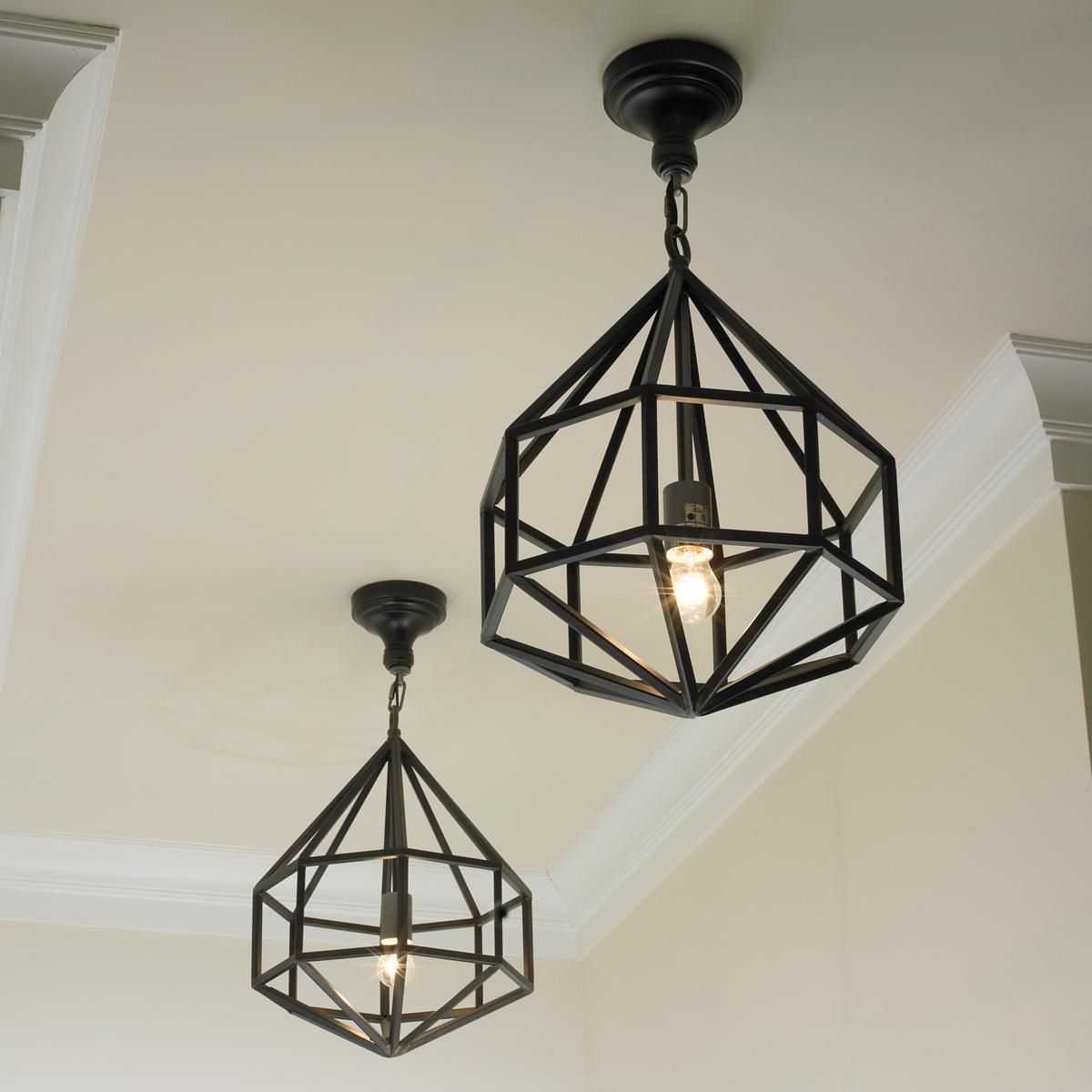 Short Diamond Cage Pendant | Kitchen/entry room lighting ...