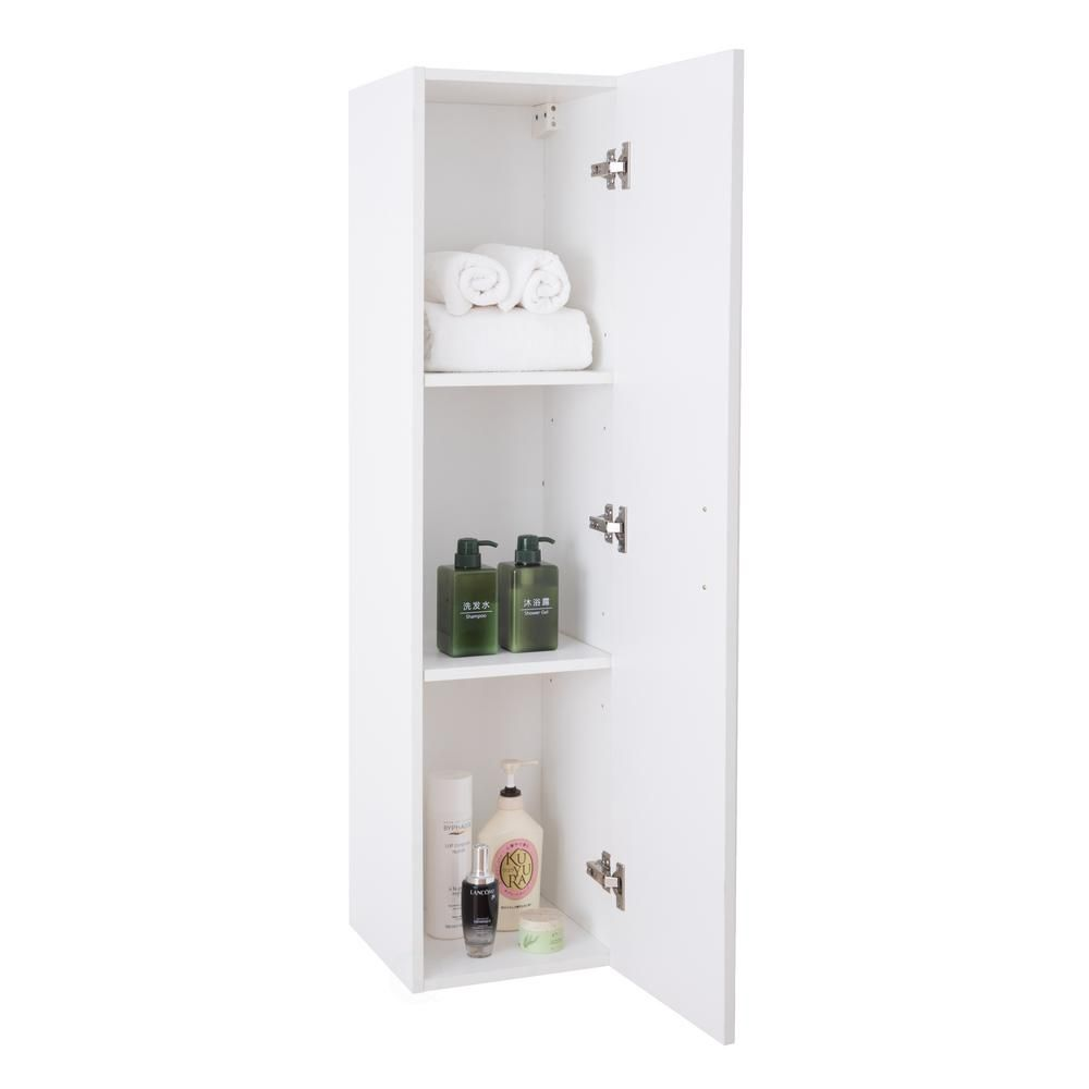 Basicwise Modern Long Bathroom Wall Mounted Cabinet In White Qi003551 W The Home Depot In 2020 Wall Mounted Bathroom Cabinets Wall Mounted Cabinet Modern Bathroom Cabinets