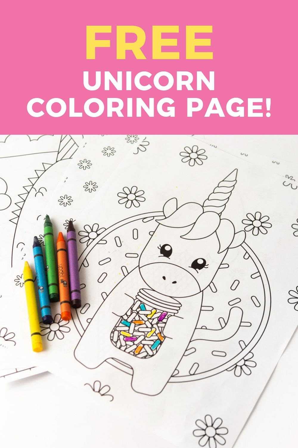 Download This Free Unicorn Coloring Page For A Fun Rainy Day Or Birthday Party Activity Unicorn Coloring Pages Dinosaur Coloring Pages Printable Coloring Book