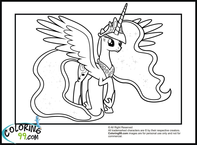 My Little Pony Princess Celestia Coloring Page