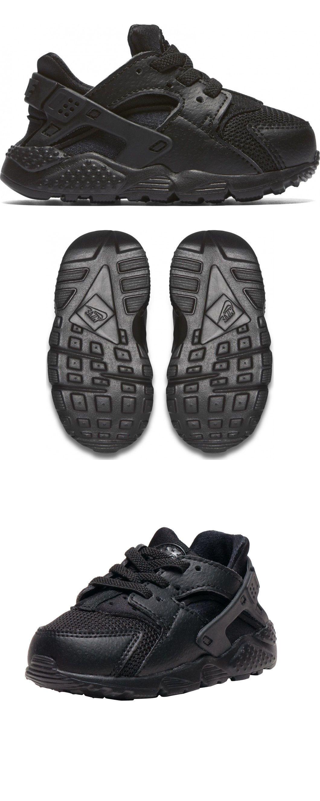 Baby Shoes Nike Huarache Run All Black Running Baby Td Sz 4