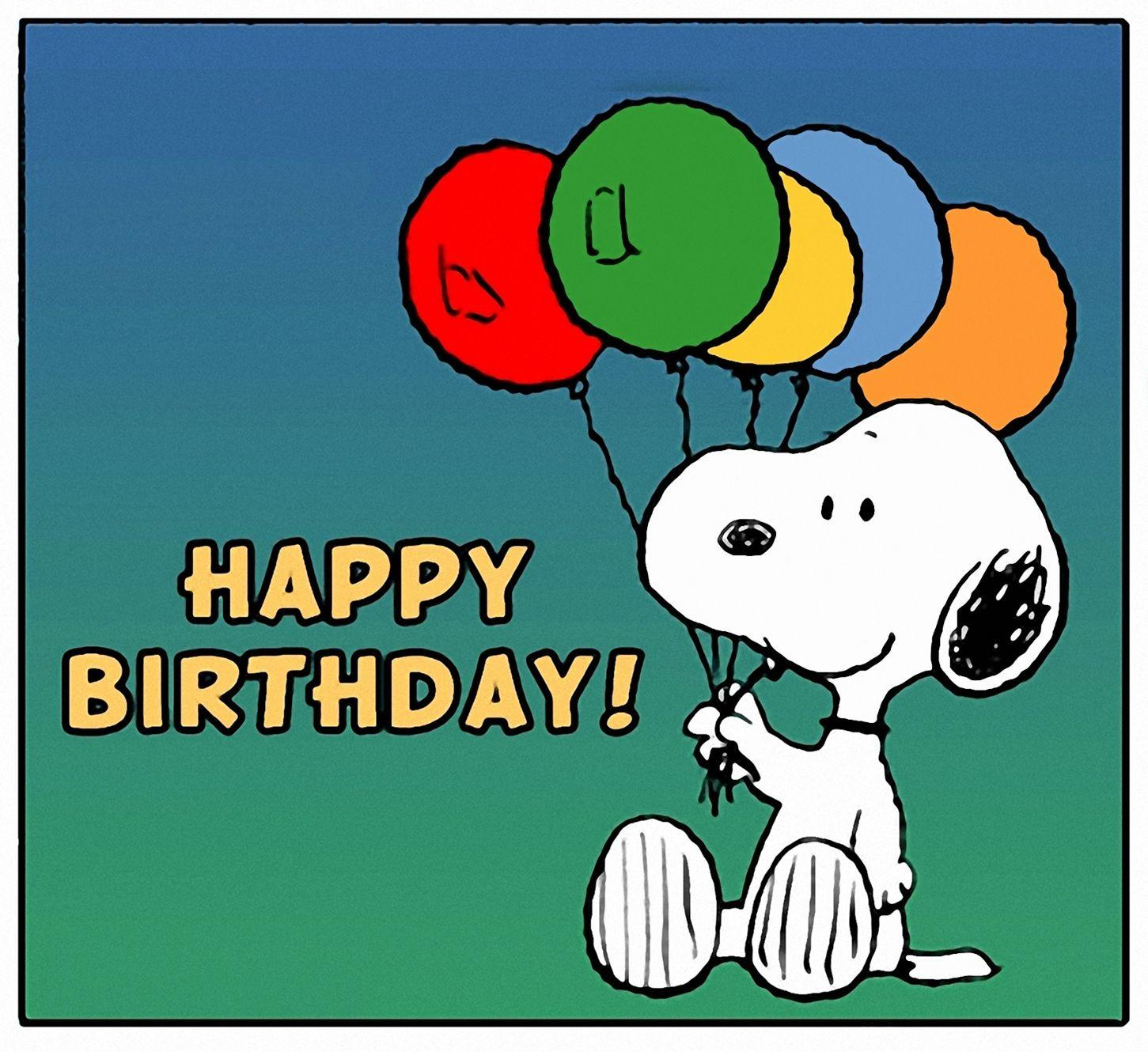 Snoopy Birthday Wallpaper