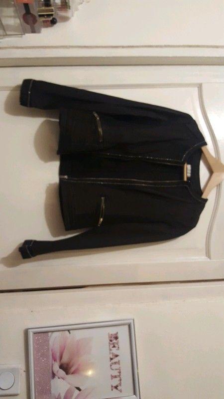 143a0ac48fa2 Veste jeans noir