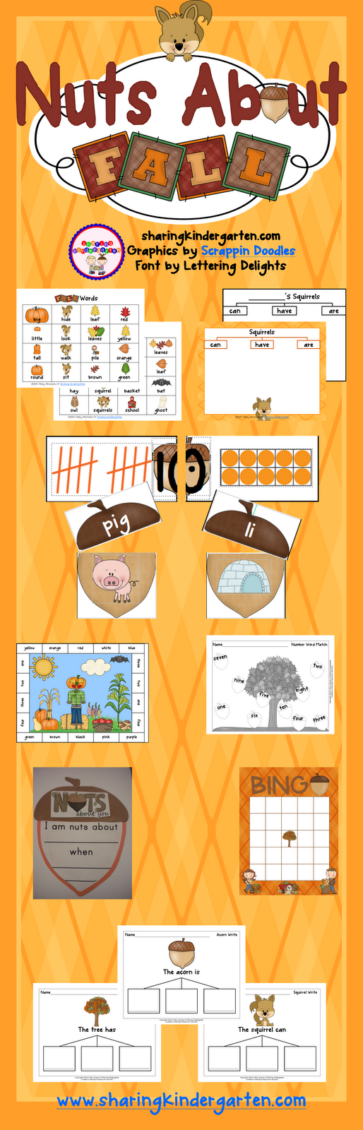 Nuts About Fall Unit... seriously.rocks!  SO many FUN and meaningful activities. This is going to be a hit!