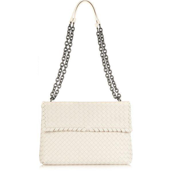 Bottega Veneta Olimpia intrecciato leather shoulder bag ( 2,800) via  Polyvore df0484dade