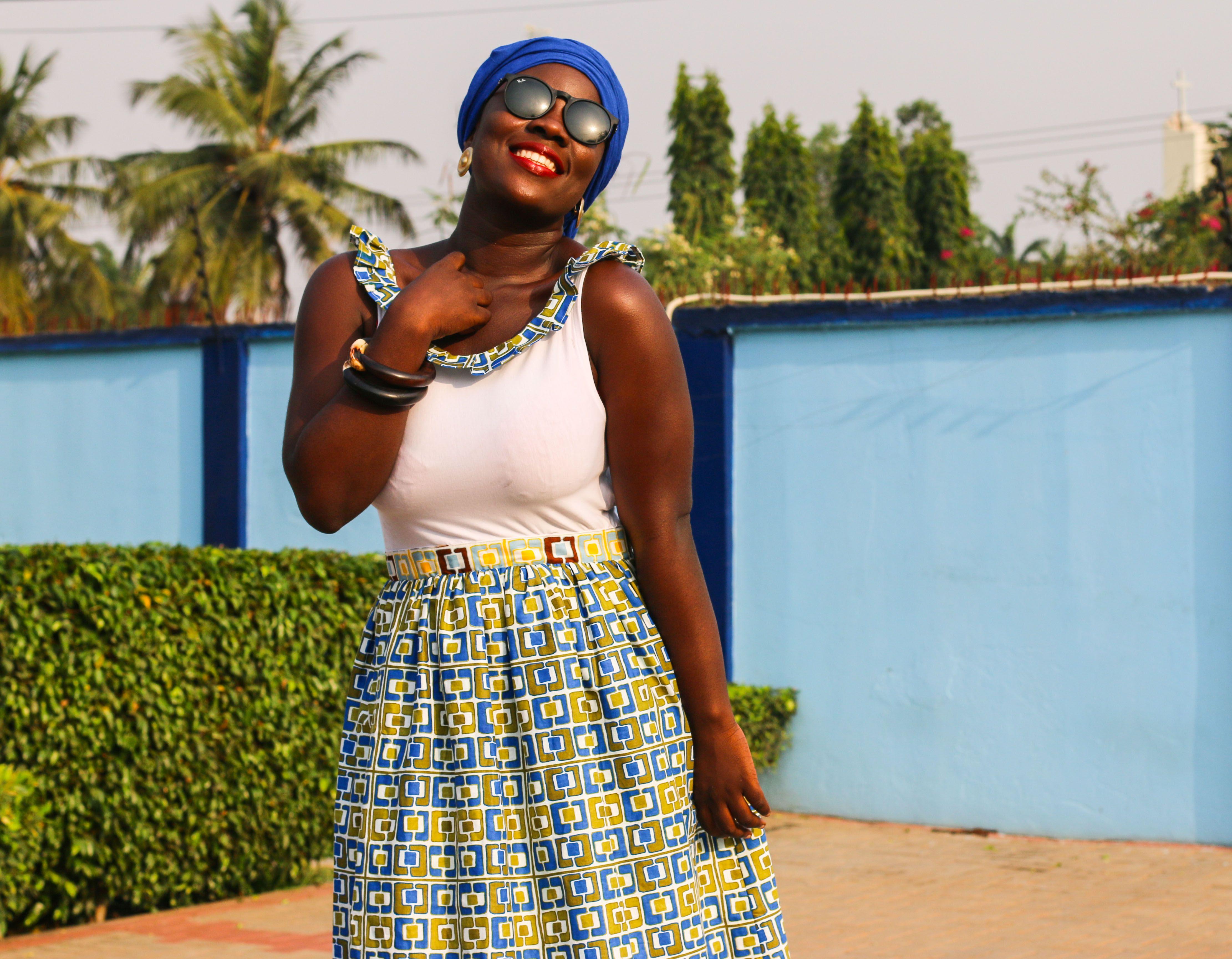 New African prints by Printex Ghana Limited  Model: Franca