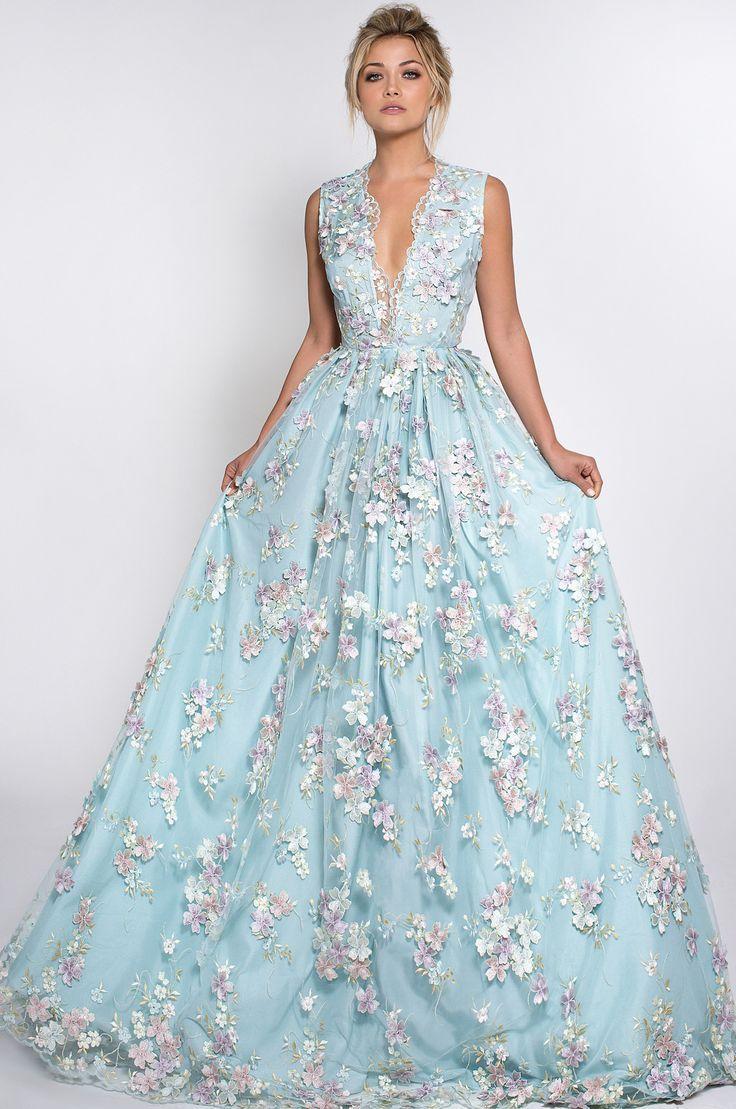 Fleur wedding dress  Lurelly bridal Fleur wedding Gown  Light Blue Wedding Glorious