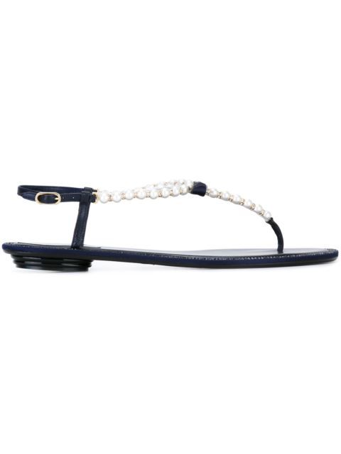591cb365a41 RENÉ CAOVILLA Embellished Pearl Bow Thong Sandals.  renécaovilla  shoes   sandals