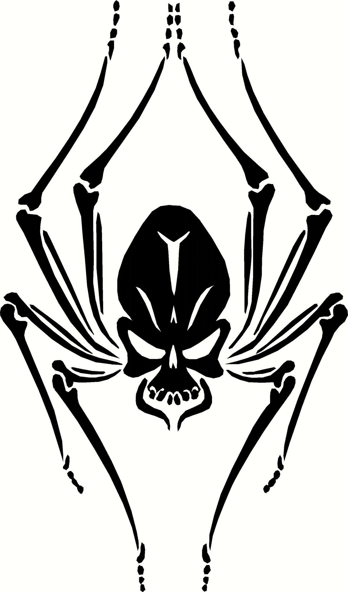 Black Widow Skull Spider Vinyl Decal Graphic