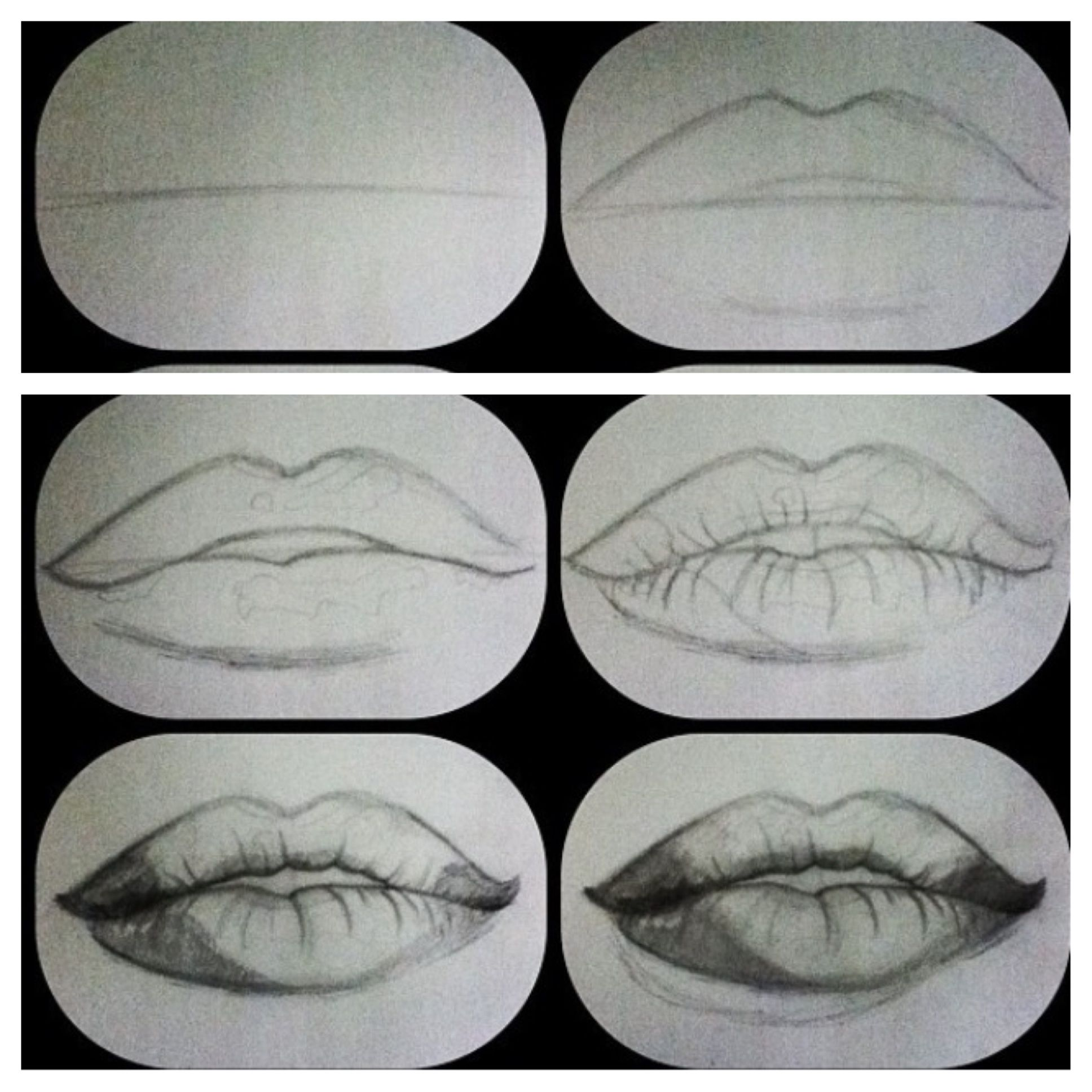 How to draw realistic lips artwork pinterest lips for Drawing ideas for beginners step by step