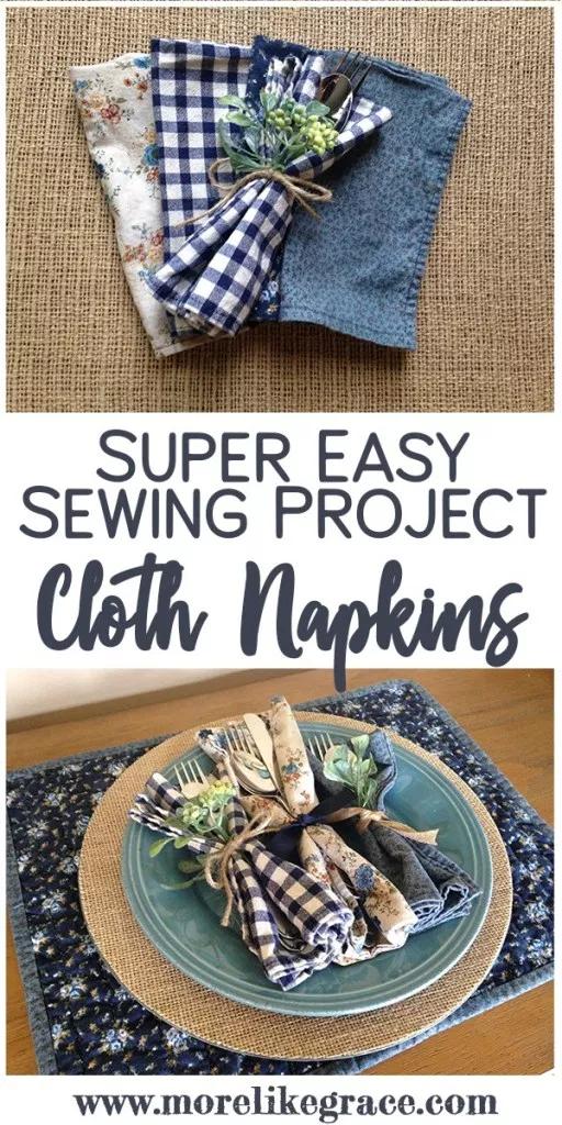 Cloth Napkins: Easy Sewing Tutorial #clothnapkins