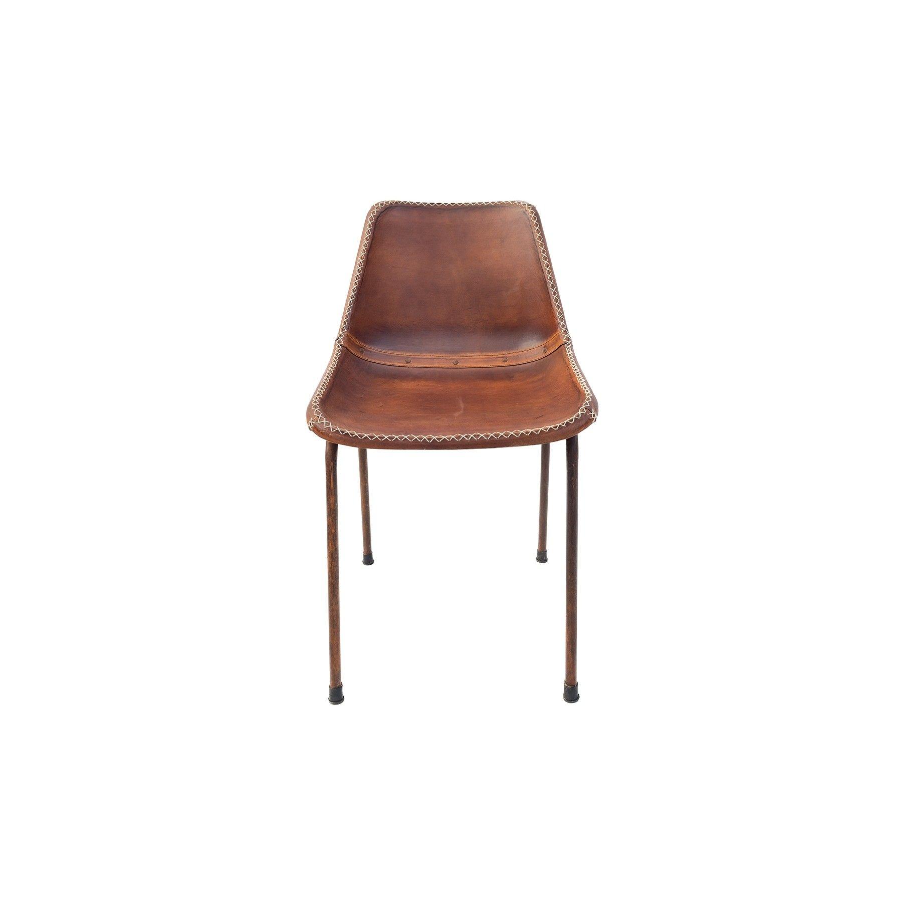 Silla cuero vintage mobiliario pinterest sillas for Sillas comedor cuero marron