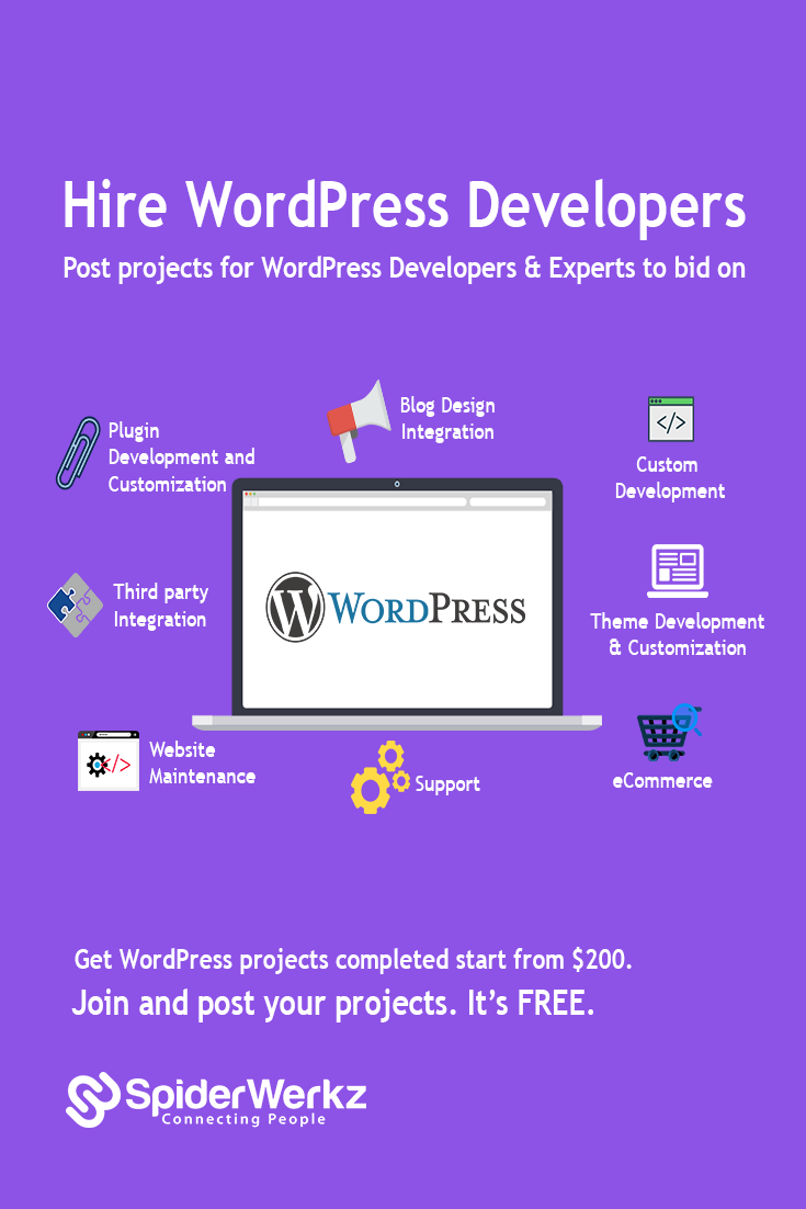 Hire Expert Freelance Wordpress Developers For Your Project Post Your Job For Free And Get Personalized Bi Wordpress Developer Website Maintenance Development
