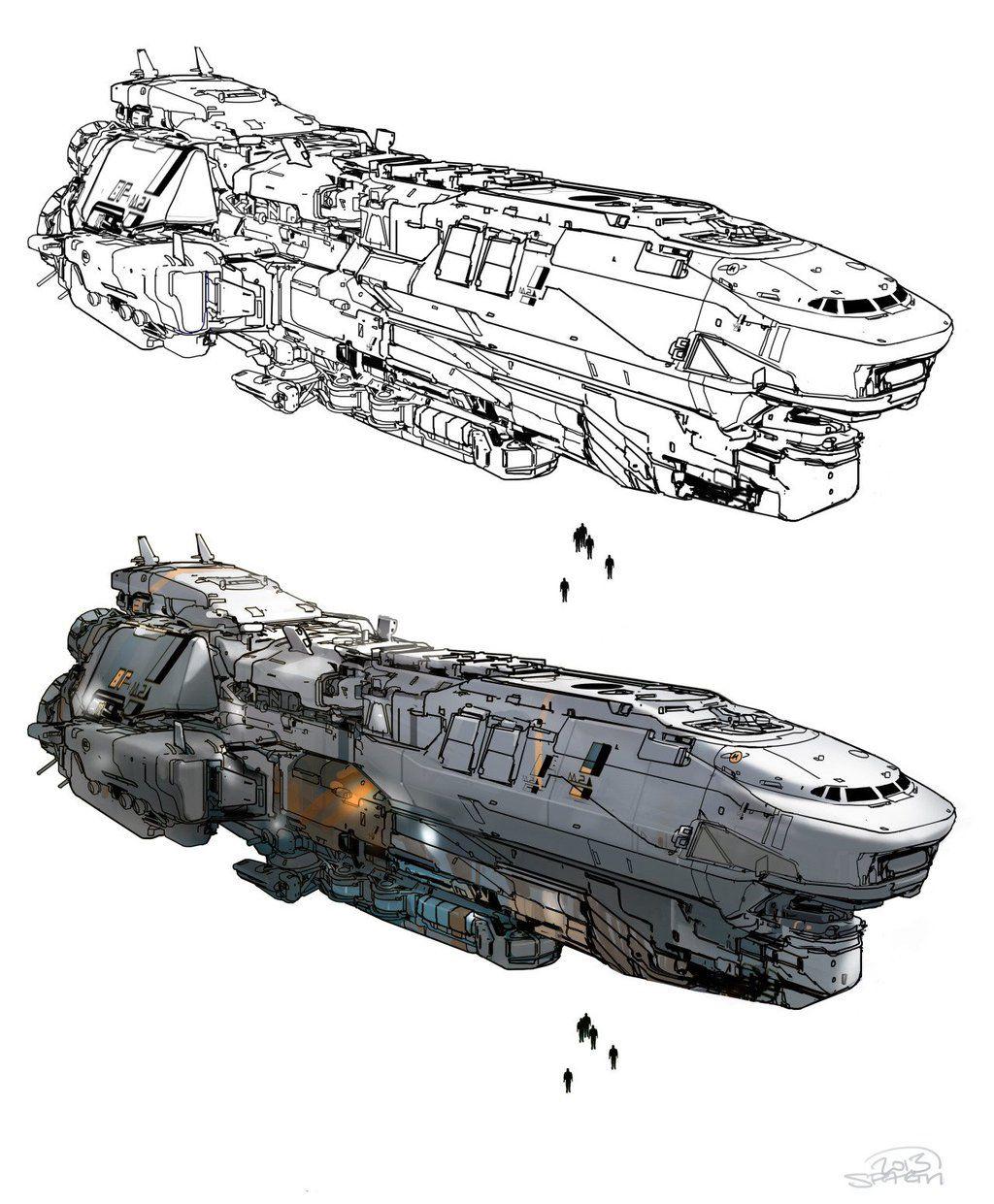 Pin by Kristofer Fox on Futuristic Spaceship art