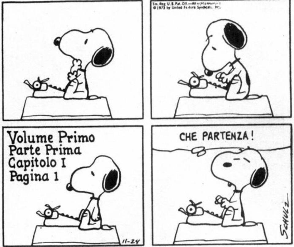 L'incipit secondo Snoopy