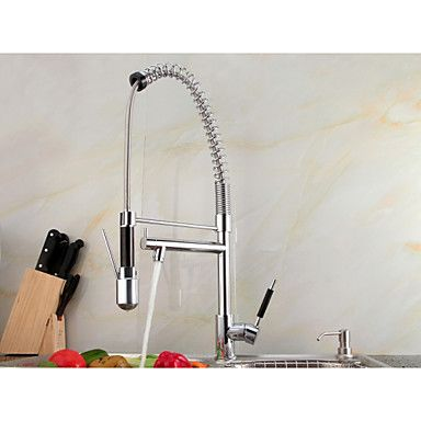 Led Light Solid Brass Chrome Finish Deck Mounted Pull Down Kitchen Faucet With Two Spray http://www.tapso.co.uk/led-light-solid-brass-chrome-finish-deck-mounted-pull-down-kitchen-faucet-with-two-spray-p-1717.html