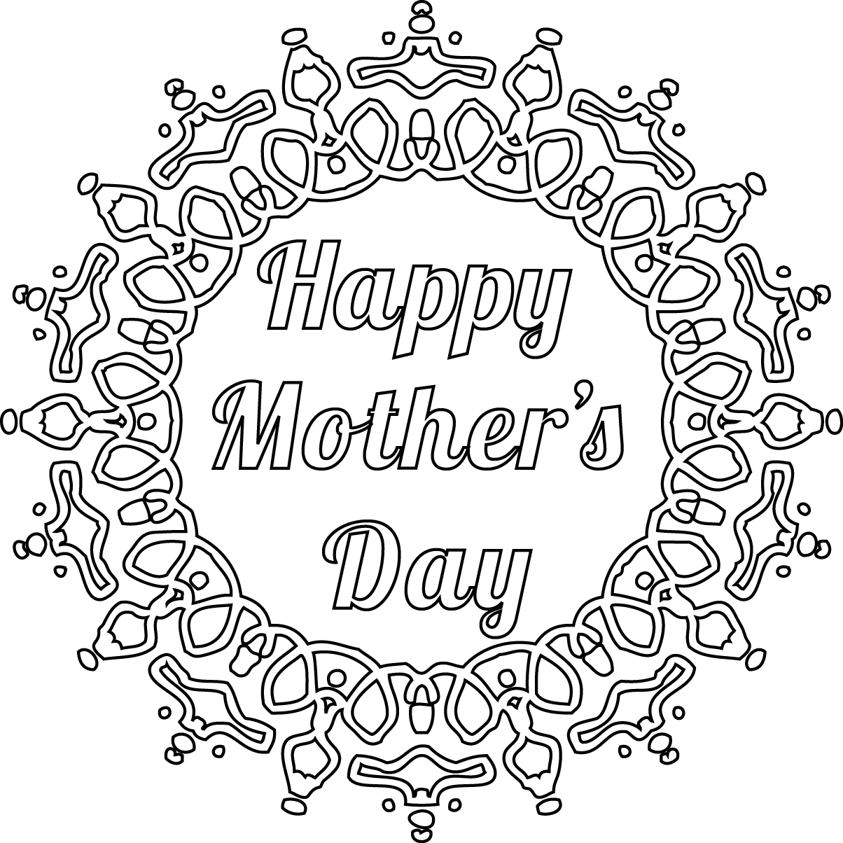 Free printable coloring pages mothers day - Free Printable Sentiment For Your Mother S Day Cards Brunch Ideascoloring Pages