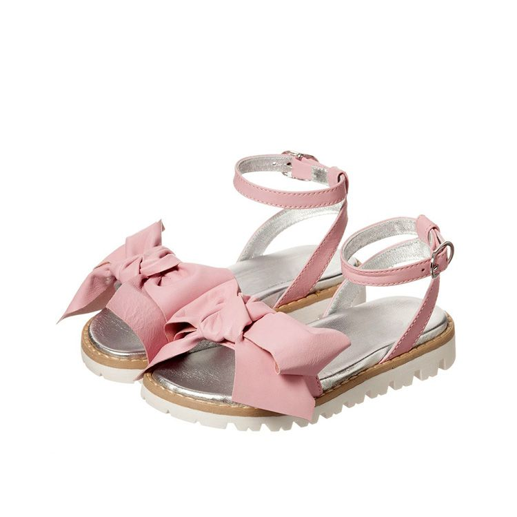 bdab8aadbc  fashion style  leather with  strap  butterfly decoration  model sole   girls  sandal  shoes