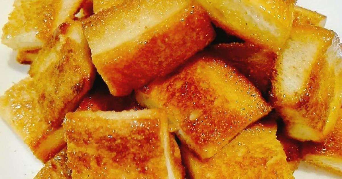 Resep Sweet Rusk Biskuit Kering Simple Dengan Roti Tawar Oleh Akari Papa Resep Cemilan Makanan Biskuit