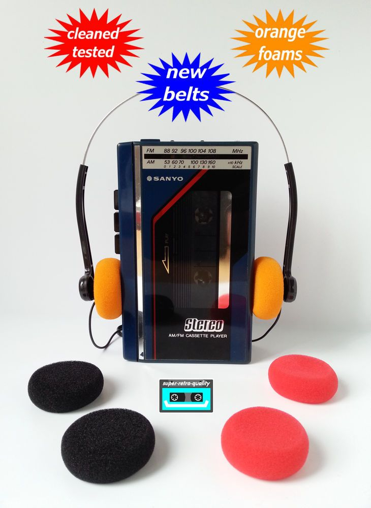 Sanyo Walkman Radio Cassette Player New Belts Cleaned Working  U0026 Tested   Sanyo  U0e43 U0e19 U0e1b U0e35 2019