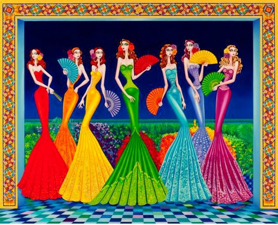 cuadros de mujeres orientales buscar con google