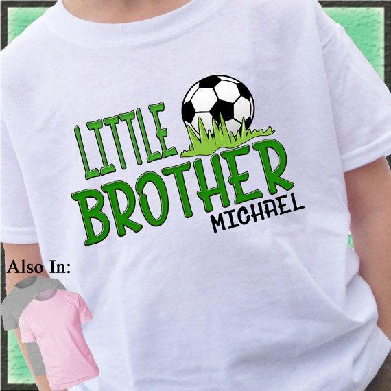 aadbf9d0d53 Boys Soccer Little Brother Shirt - Personalized Soccer Shirt ...