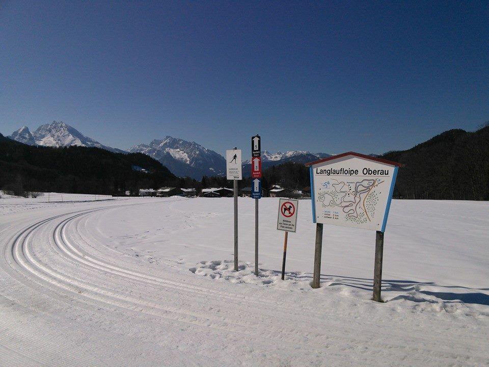 Langlaufloipe in Oberau