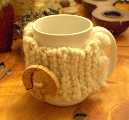 how to knit a coffee cup cozy