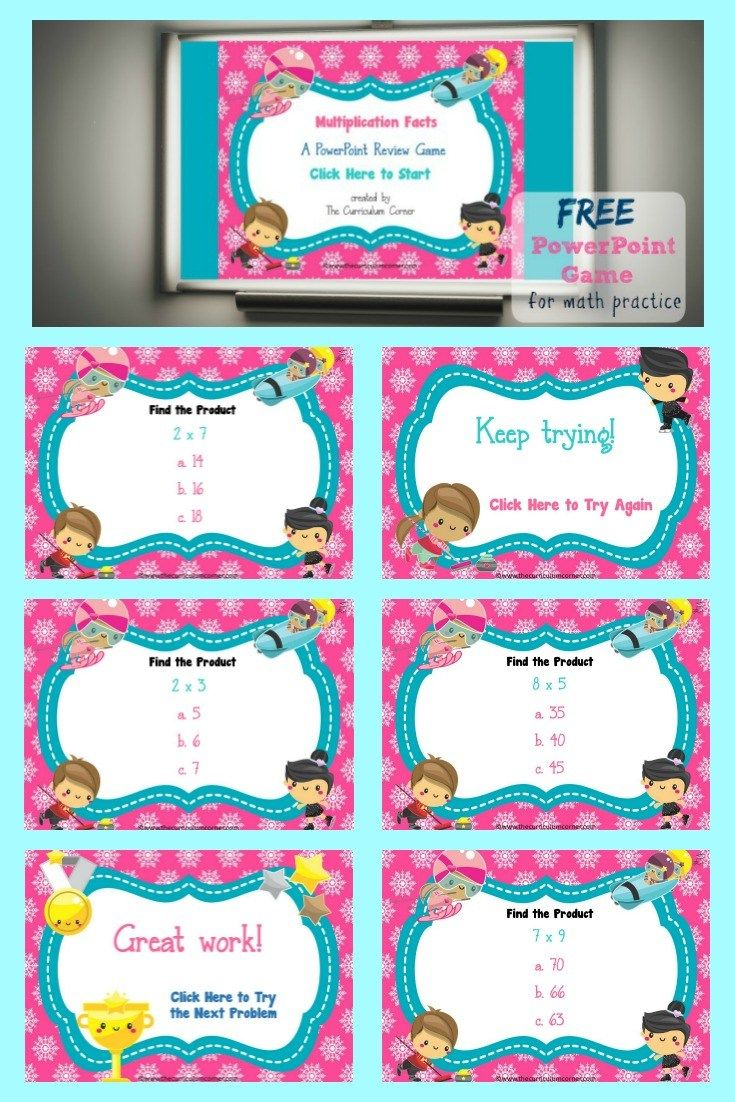FREE Multiplication Facts PowerPoint Game | 2nd - 3rd Grade ...