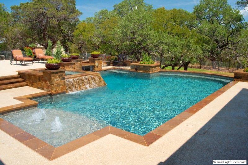 Pool Designs Freeform Geometric Vanishing Edge Residential Pool Inground Pool Designs Geometric Pool