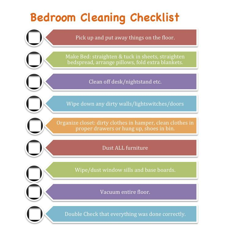 cleaning checklist per room - Google Search Organize Pinterest - sample cleaning schedule template