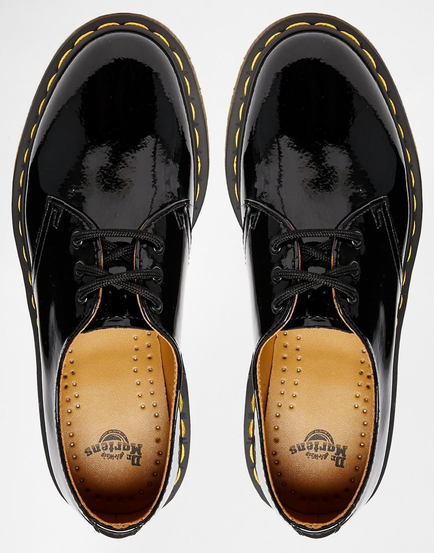 2b5aec05f Dr Martens 1461 classic black patent flat shoes | Fuckin shoes ...