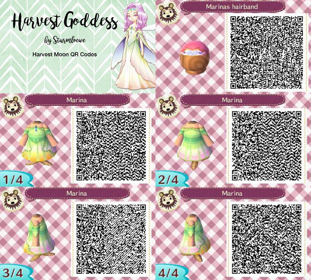 Bien-aimé Harvest moon harvest goddess dress for Animal crossing new leaf  IQ12