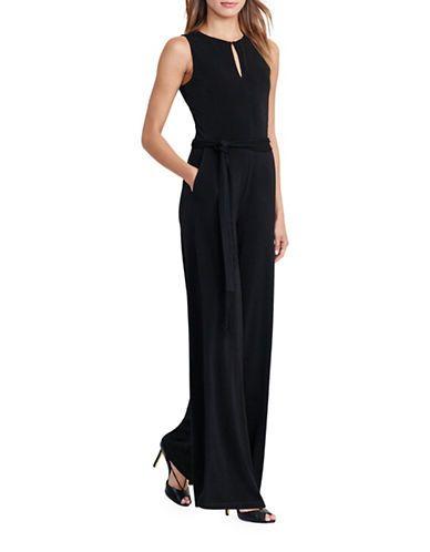 dbddbe8bef86 Lauren Ralph Lauren Jersey Wide-Leg Jumpsuit Women s Black Large ...