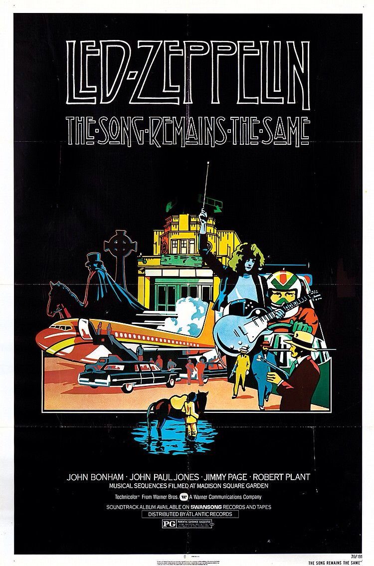 Poster from the film The Song Remains The Same Led Zeppelin | Film ...
