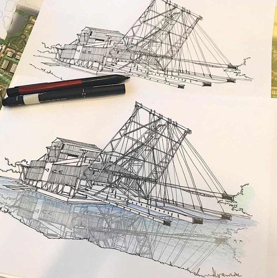 Detaillierte Architekturzeichnungen von Syahmi Daud Noch bevor es ...