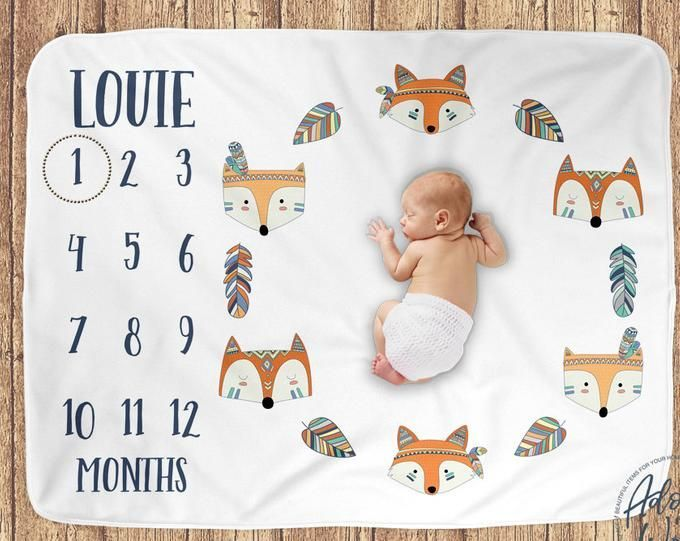 Photo of Personalized Baby Blanket, Baby Name Swaddle Blanket, Newborn Baby Girl, Baby Bo…