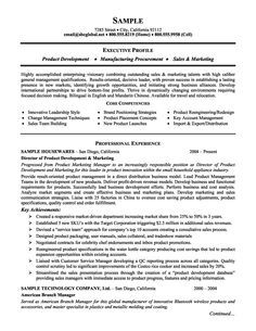 Product Management And Marketing Executive Resume Example Marketing Resume Resume Executive Resume