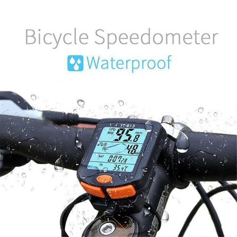 Digital Bicycle Bike LCD Cycling Computer Odometer Speedometer Stopwatch New