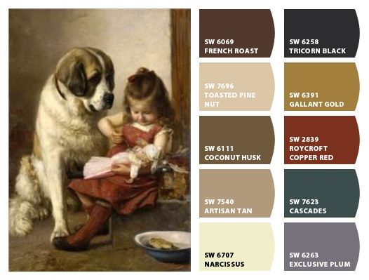 """""""Paul Hermann Wagner"""" Color Palette Inspiration for exterior home color scheme, stone accents, and landscaping. Chip It! by Sherwin-Williams – Home"""