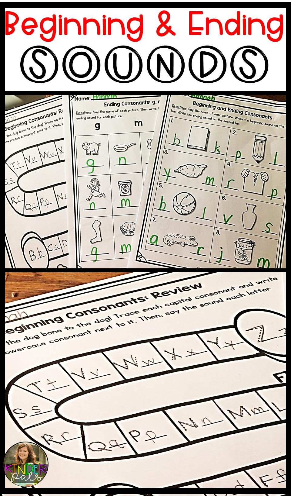 Beginning And Ending Sounds Worksheets Pinterest Worksheets