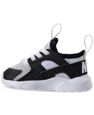 c4bdb128a2f Nike Toddler Boys  Air Huarache Run Ultra Running Sneakers from Finish Line  - WHITE BLACK 10