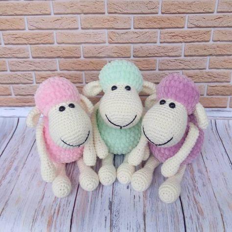 Amigurumi sheep plush toy free pattern | Amigurumi & applique ...