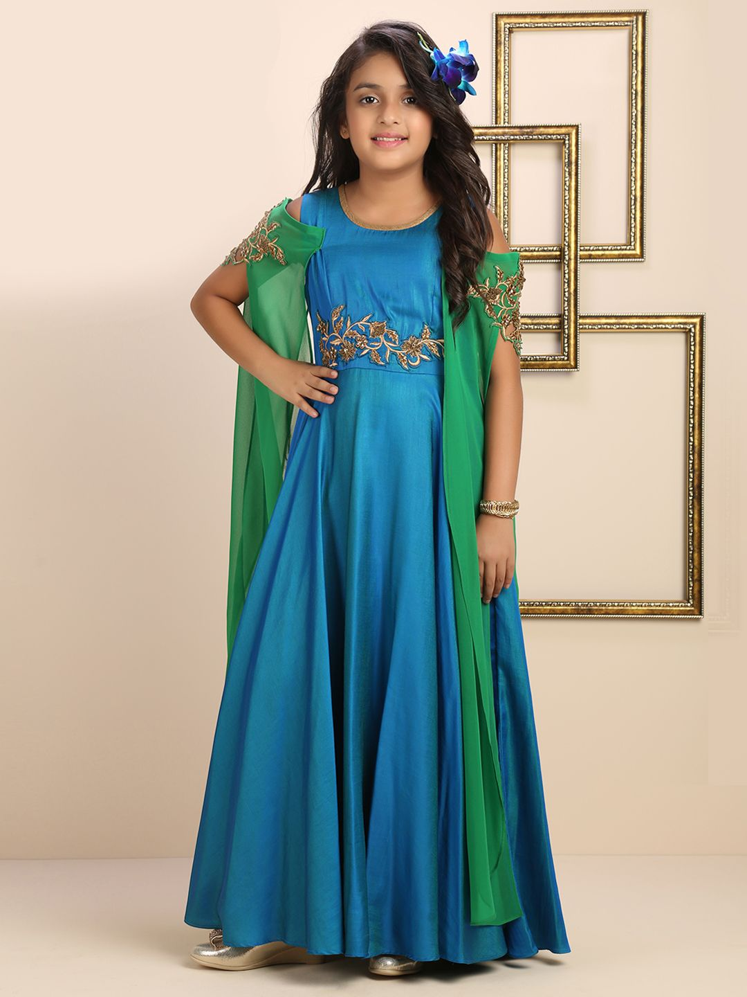 17e03e58c Plain Blue Designer Gown