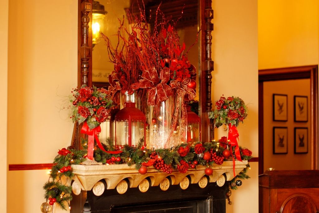 Main Fireplace at Mount Falcon Magical christmas